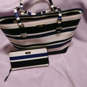Kate Spade tote dally bag & wallet set